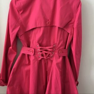 Betsey Johnson Corset Trench Coat
